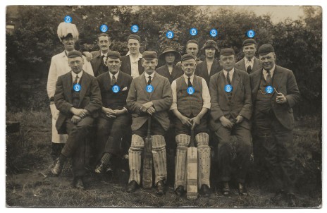 Photograph 3. Batting team. Cecil Inman is number 28.