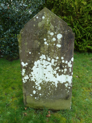 Josiah Hibberd grave, All Saints Churchyard, All Cannings The inscription reads:     In memory of  JOSHUA HIBBERD  ENTERED INTO REST MAY 9 1897, AGED 38.      HE WAS INJURED WHILE WORKING  IN TOTLEY TUNNEL, 1892,  AND LAY HELPLESSLY CRIPPLED FOR  OVER FIV