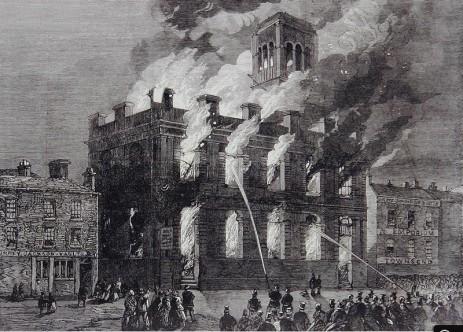 Surrey Theatre Fire, West Bar, Sheffield, 1865