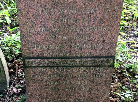 Thomas Youdan memorial stone, General Cemetery, Sheffield