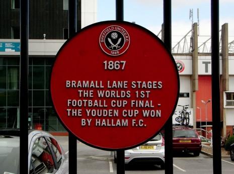 Plaque, Sheffield United F.C., Cherry Street, Sheffield