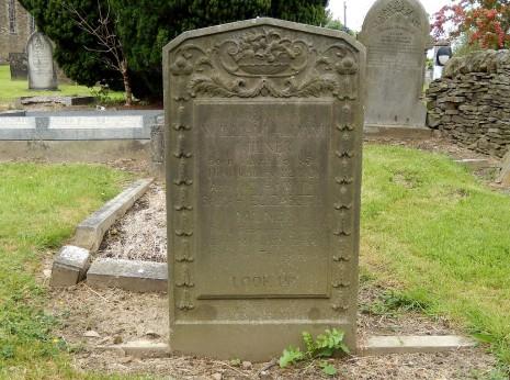 Gravestone of William Aldam and Sarah Elizabeth Milner of Totley Hall