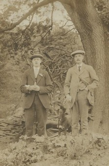 Frank and Horatio Taylor in Gillfield Wood