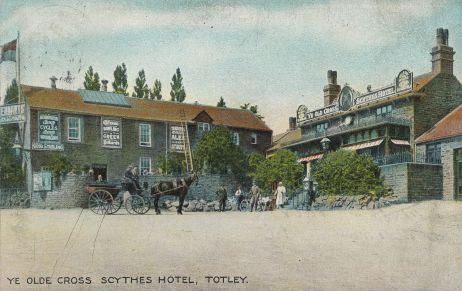 Ye Old Cross Scythes Hotel in about 1906