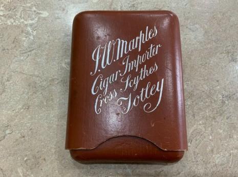 J. W. Marples cigar case, Cross Scythes c 1897.