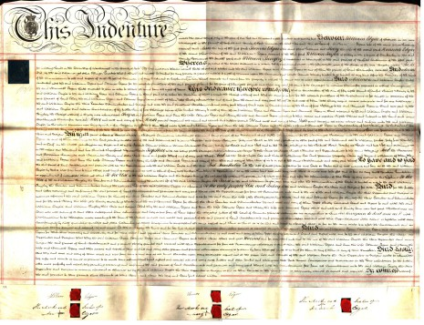 Indenture 2nd July 1822, part one