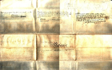 Indenture 2nd July 1822, part two (reverse)