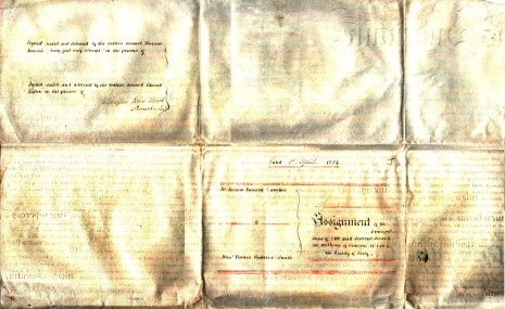 Assignment dated 1st April 1824, part two (reverse)