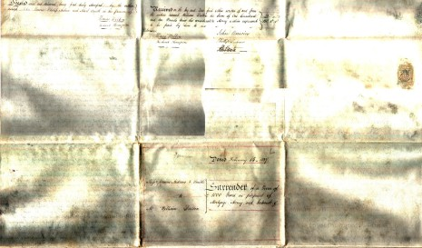 Surrender dated 14 February 1837, part two (reverse)