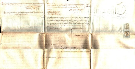 Conveyance dated 25th March 1847, part two (reverse)