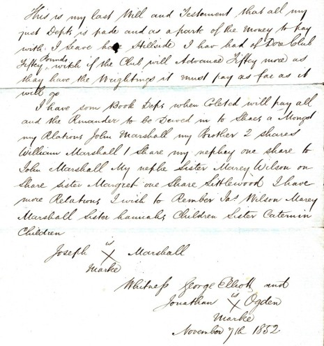 Will dated 7 November 1852