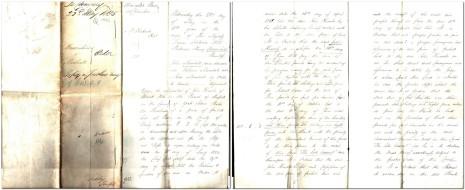 Minutes of Order on Claim, 21 January 1854