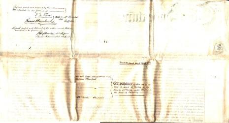 Conveyance dated 2 April 1856, part 3 (reverse)