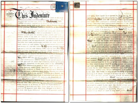 Conveyance dated 30 July 1873, parts 1 and 2