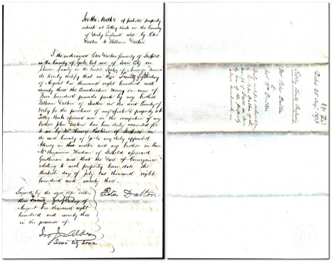 Certified acknowledgment dated 25 August 1873