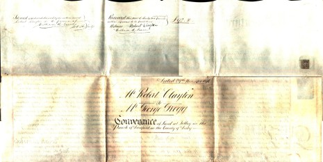 Conveyance dated 29 November 1876, part two (reverse)