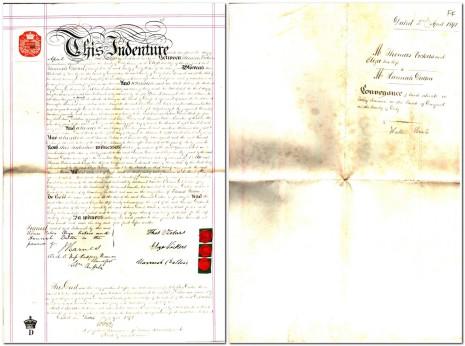 Conveyance dated 2 April 1891