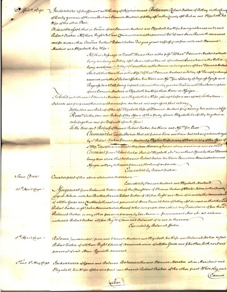 Abstract of Title dated 1778, part 2